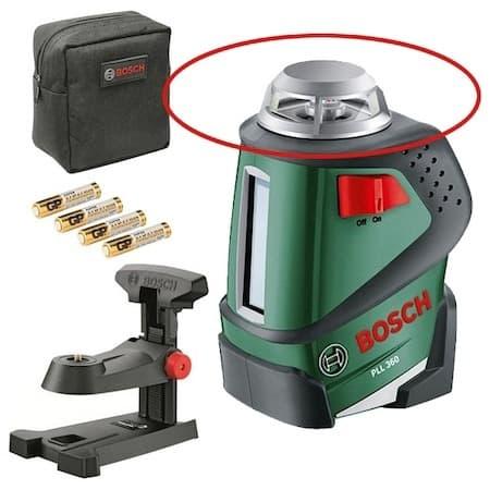 Cea mai bună nivelă cu laser cu suport de perete: Nivela laser cu autonivelare Bosch PLL 360