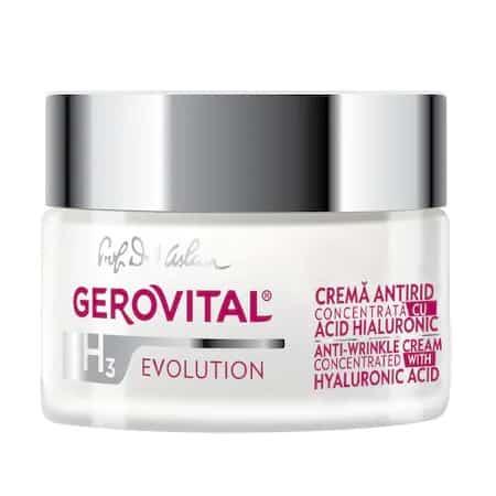 Crema antirid cea mai bogată în acid hialuronic pur: Gerovital H3 Evolution