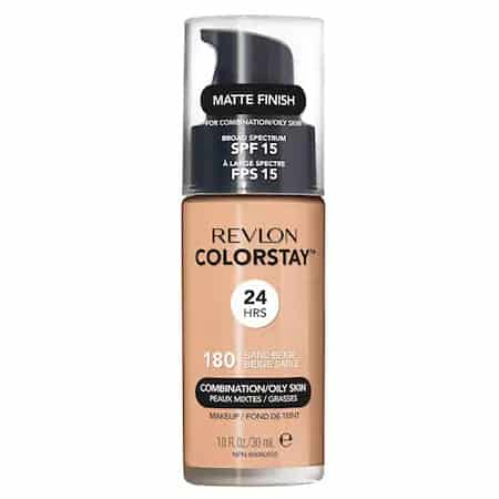 Cel mai bun fond de ten cu efect de matifiere : Fond de ten Revlon ColorStay Combination/Oily SPF 15 180 Sand